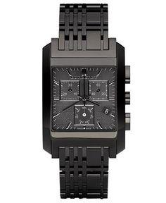 Matte black Burberry watch