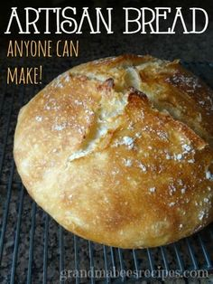 Artisan Bread - anyone can make it! Whenever I make this bread, it comes out of the dutch oven literally crackling!