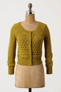 Rather taken with mustard lately.  Knit details don't hurt, either.