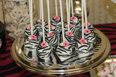 Zebra Theme Baby Shower  | CatchMyParty.com