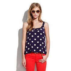 silk dotty tangent tank / Madewell {oh dots, i love you so much}