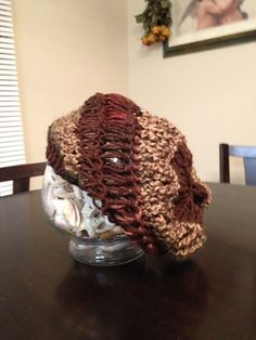 Ravelry: Drop Stitch Slouch hat #1 - loom knit pattern by Candace Breaux