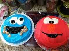 Elmo n cookie cakes