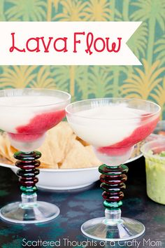 Tropical drink recipes: Lava flow - kind of like a strawberry daiquiri and pina colada mixed together!