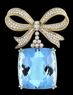 aquamarine emerald cut pin - Google Search
