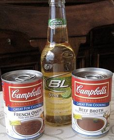 French Dip...Crock Pot Style - This is THE BEST French Dip you will ever make and oh so simple,  I use Budweiser. not lime flavored.