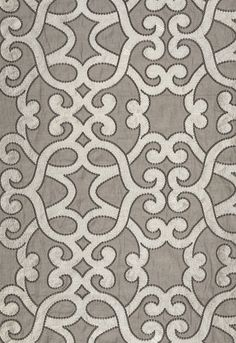 Amboise Linen Embroidery Zinc Fabric SKU - 65180