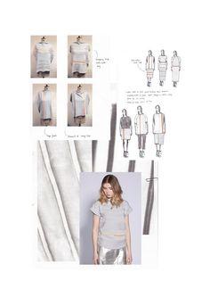 Fashion Sketchbook - fashion drawings & knitted fabric development; fashion design portfolio // Mary-Emma Brooks