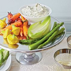 Basil Aïoli with Crudités | MyRecipes.com