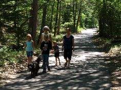 Sleeping Bear Heritage Trail is a 27-mile non-motorized trail through the lakeshore