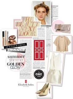 """A Glimpse of Gold with Elizabeth Arden"" by sherbetfountain ❤ liked on Polyvore"