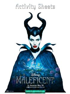 New Maleficent Coloring Pages and Activity Sheets- perfect for my little's Maleficent movie viewing bday party!