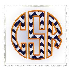 Large Circle Monogram Applique Machine Embroidery Font Alphabet - 3 Sizes via Etsy