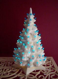 Vintage Ceramic White Christmas Tree Retro by NanNasThings on Etsy, $60.00