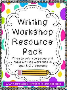 Mrs. Wheeler's First Grade Tidbits: Writing Workshop Folders