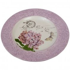 Pink Botanical Breakfast Plate £6.95 form the dotcomgiftshop