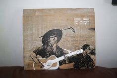 Conor Oberst and the Mystic Valley Band.    SIlk screen on old wood. Click through to buy. $40