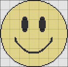 crossstitch, cross stitch smiley face, chart
