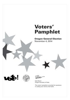 Voters' pamphlet, State of Oregon general election by Oregon Office of the Secretary of State