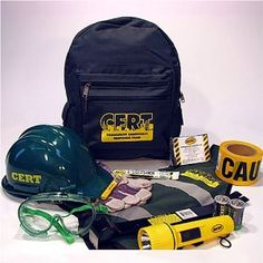 CERT Basic Kit: This is the basic kit given to anyone who graduates from a Community Emergency Response Team training. It's a decent start and contains a few items any home should have (e.g. work gloves, flashlight, etc.)