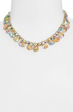 Love! Sparkly multicolored Swarovski crystal necklace.