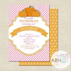 Little Pumpkin Birthday Invitation By A Blissful Nest #fall #birthday #party #pumkin
