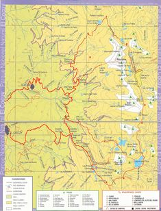 Parque Nacional Natural El Cocuy 6 day trek map http://www.pnncocuy.com/
