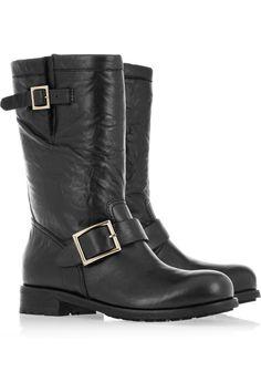 Jimmy Choo|Leather biker boots|