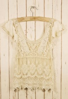 Retro Crochet Top