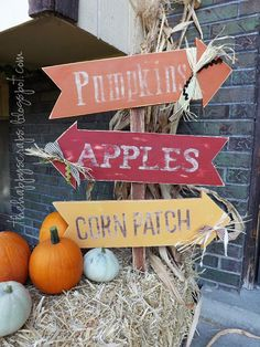 Obsessed with this fall sign by The Happy Scraps using her Cricut machine to cut out stencils!