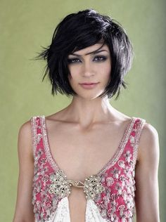 layered bob for thick hair - for Meredith