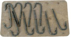 A card of fish hooks, made about 1810. MUS OF FUR TRADE