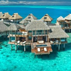 Hilton in Bora Bora - just once I would love to stay in the lap of luxury!