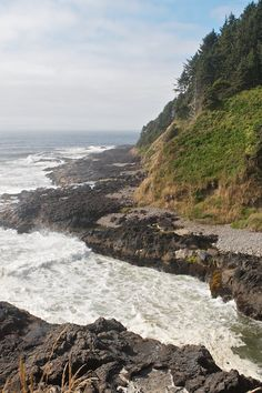 The Devil's Churn at the Oregon Coast