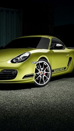 ♂ Green car Porsche Cayman