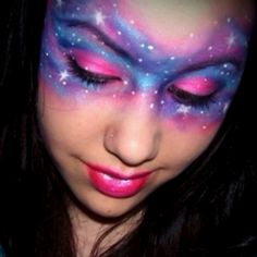 Using this nebula make-up idea for my Dia de Los Muertos costume this year ^_*