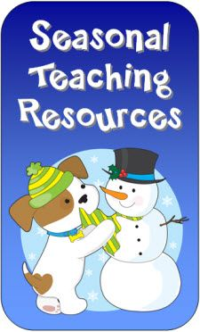 Seasonal Teaching Resources on LauraCandler.com - Newly updated with freebies and resources for January and winter