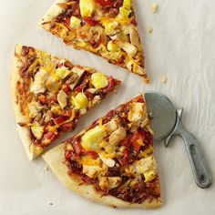 Pineapple Barbecue Chicken Pizza: We updated the modern-classic barbecue chicken pizza by adding sweet, juicy pineapple.