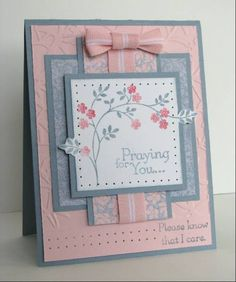 Layout idea. sympathy cards, card layouts, decorating ideas, paper crafting, thought prayer, paper trim, thoughts and prayers cards, paper crafts, embossed cards