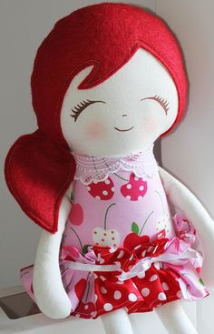 Cheri - Handmade cloth doll - by CherryPlum on madeit