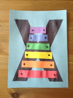 X is for Xylophone Craft - Preschool Craft letter crafts, preschool crafts for letter x, alphabet letters, letter x crafts for preschool, alphabet crafts, craft ideas, art projects, letter x preschool crafts, alphabet art