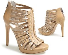 BCBGeneration Maxwell sandals in nude - spring booties!