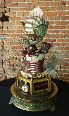 gorgeous steampunk cake