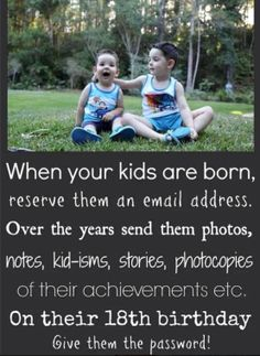 A keepsake for the digital age - Email for your kids