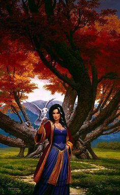 Polgara the Sorceress, from The Belgariad by David Eddings... don't mess with Polgara or the people she loves!