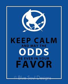 keep calm hunger games print