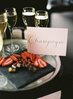 champagne and strawberries <3