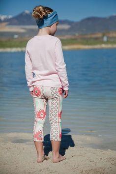Salt City Emporium pink tribal print children leggings, modern organic, baby leggings, hipster kid, boy clothes, gender neutral on Etsy, $32.00