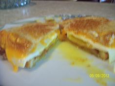 My version.  Just finished eating this,  VERY DELICIOUS!!!Sorry the pic is blurry.  Can't retake the pic as it is in my belly.  lol