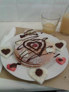 valentine's pancake